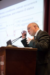 Professor Autier speaking at the 2014 NCID