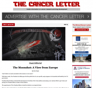 The Cancer Letter April 29 2016
