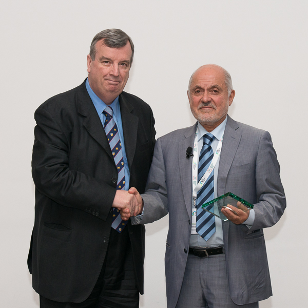 David Zaridze presented Award